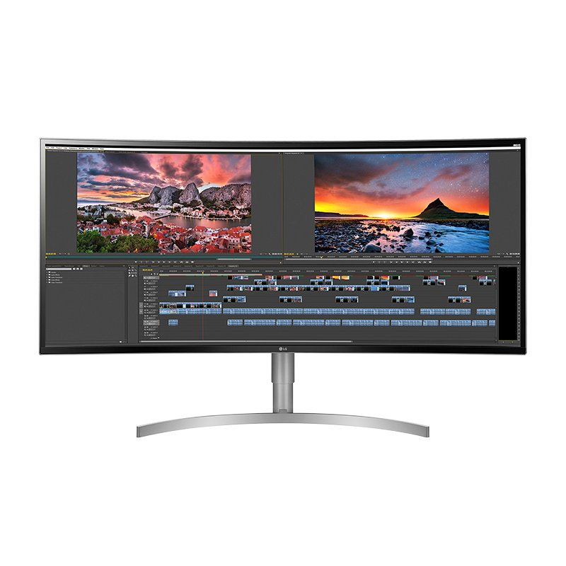 LG 38-inch Ultrawide IPS Curved Gaming Monitor with AMD FreeSync - 38WK95C-W