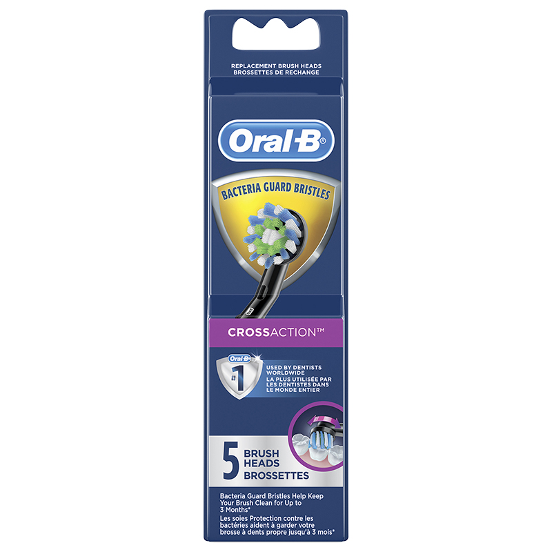 Oral-B CrossAction Replacement Brush Heads - Black - EB50-5
