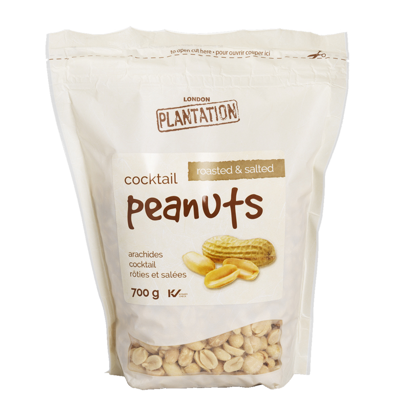 London Plantation Cocktail Peanuts - Roasted and Salted - 700g