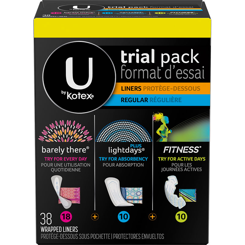 U By Kotex Trial Pack Liners - 38's