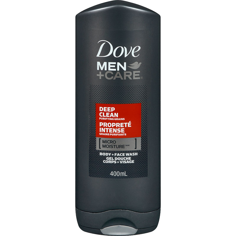 Dove Men +Care Deep Clean Micro Moisture Body + Facewash - 400ml