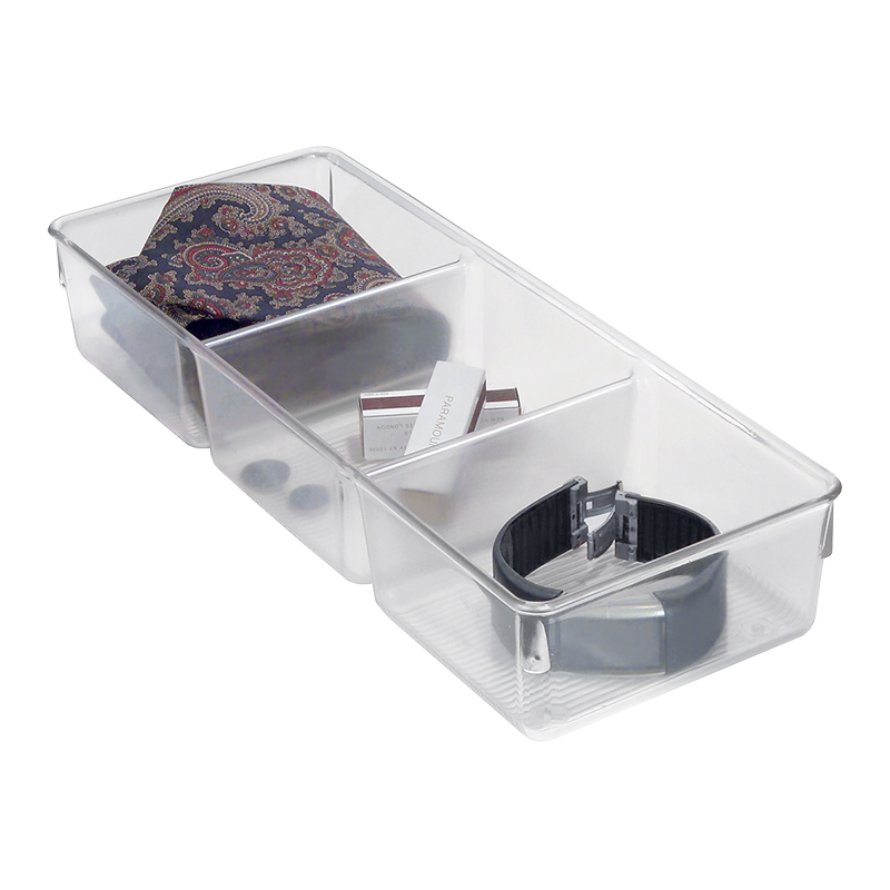 InterDesign Linus Drawer Organizer - Clear - 5 x 13 x 2.25 inch