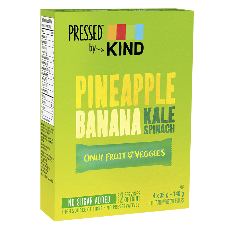 Kind Pressed Only Fruit & Veggies - Pineapple Banana Kale - 4 Pack