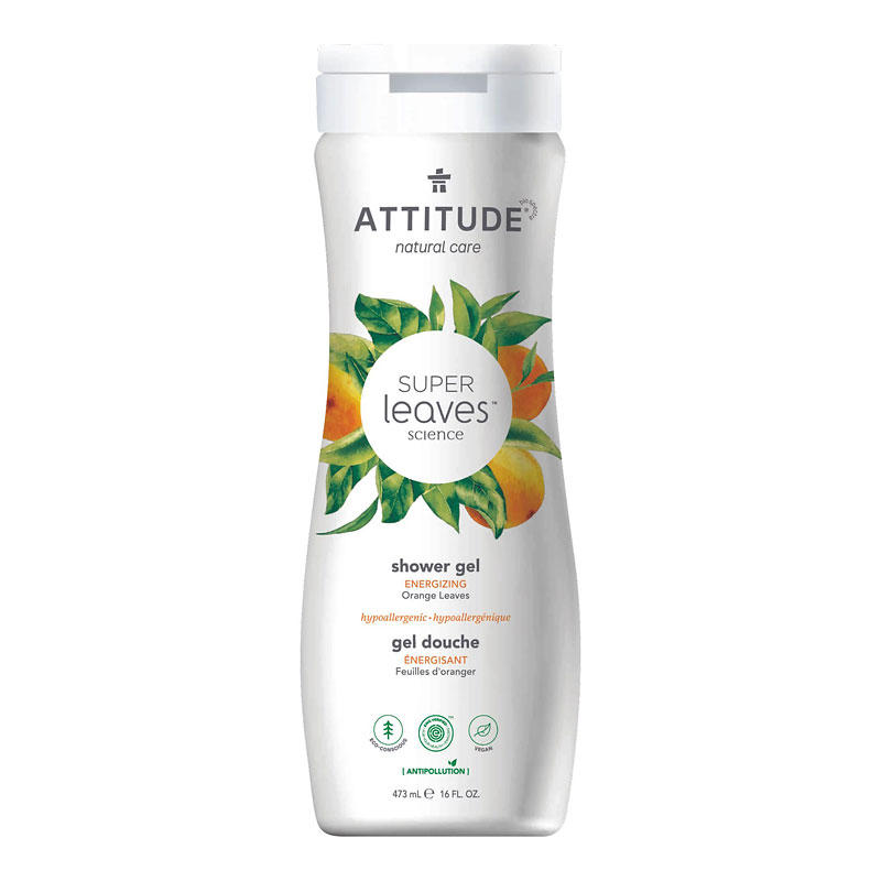 Attitude Super Leaves Science Natural Shower Gel - Energizing Orange Leaves - 473ml