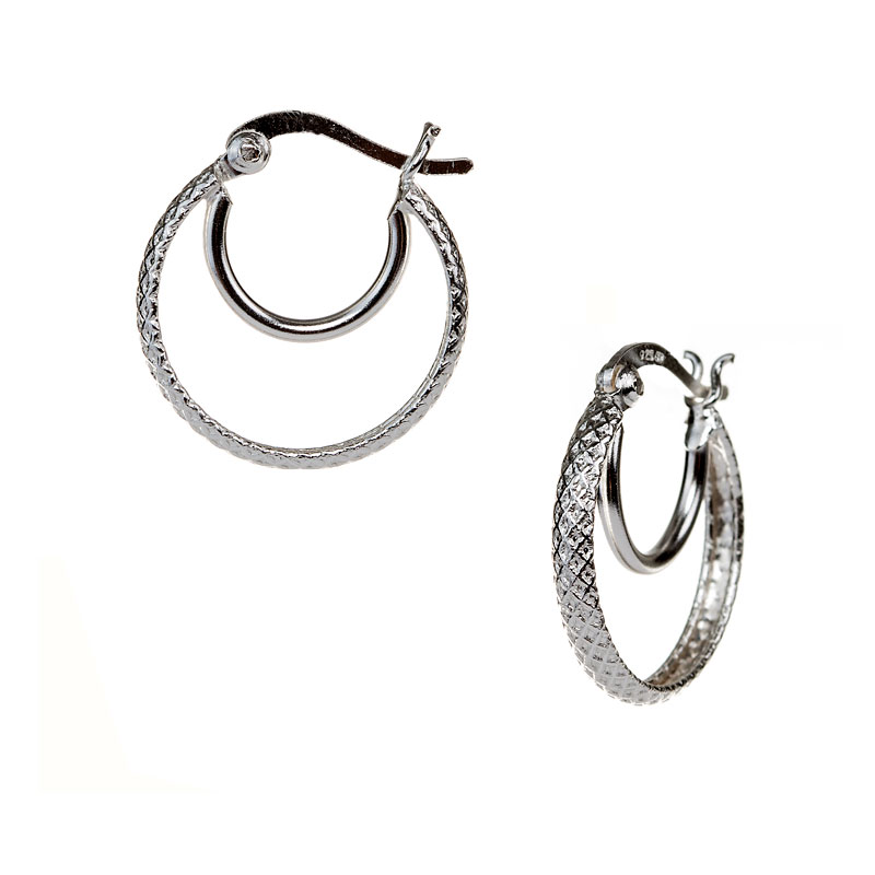 Charisma Stainless Steel Double Hoop Earrings