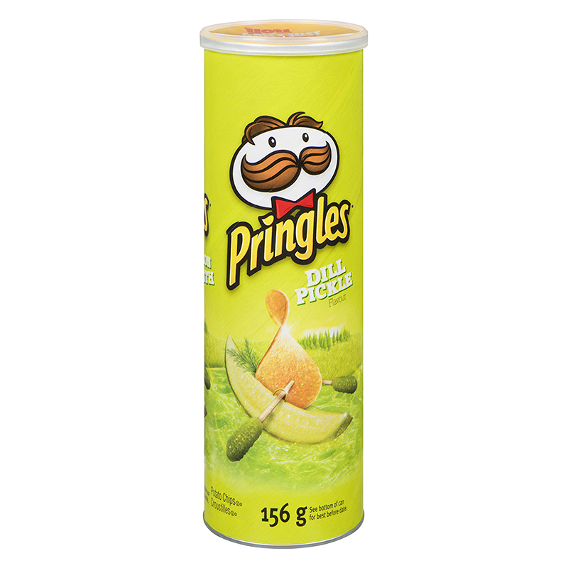 Pringles Potato Chips - Dill Pickles - 156g