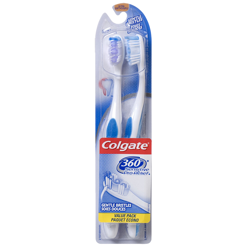Colgate 360 Sensitive Pro-Relief Toothbrush - Ultra Soft - 2 pack