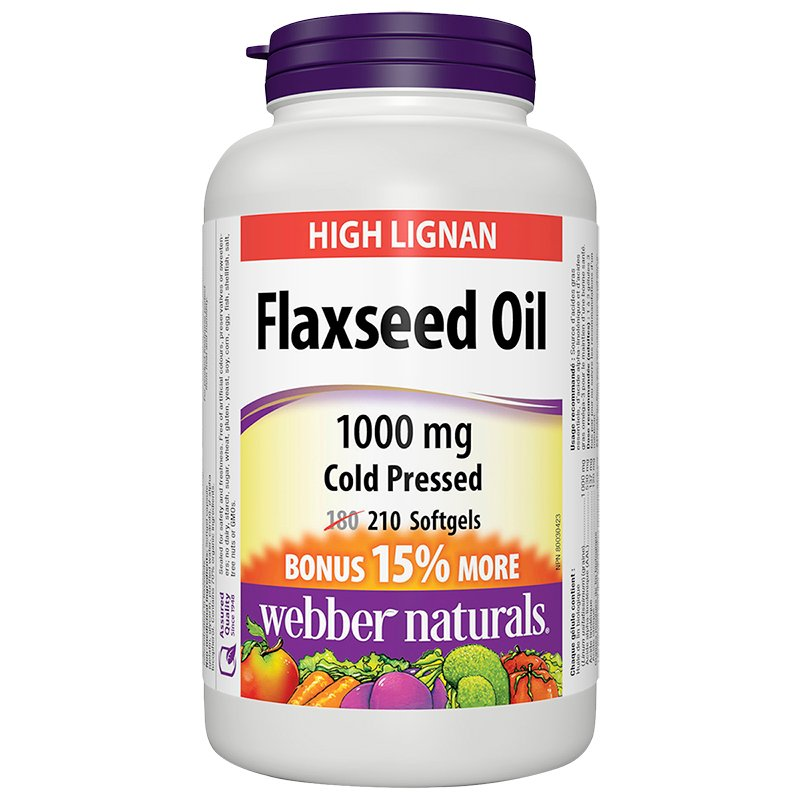 Webber Naturals Flaxseed Oil 1000mg - 180's