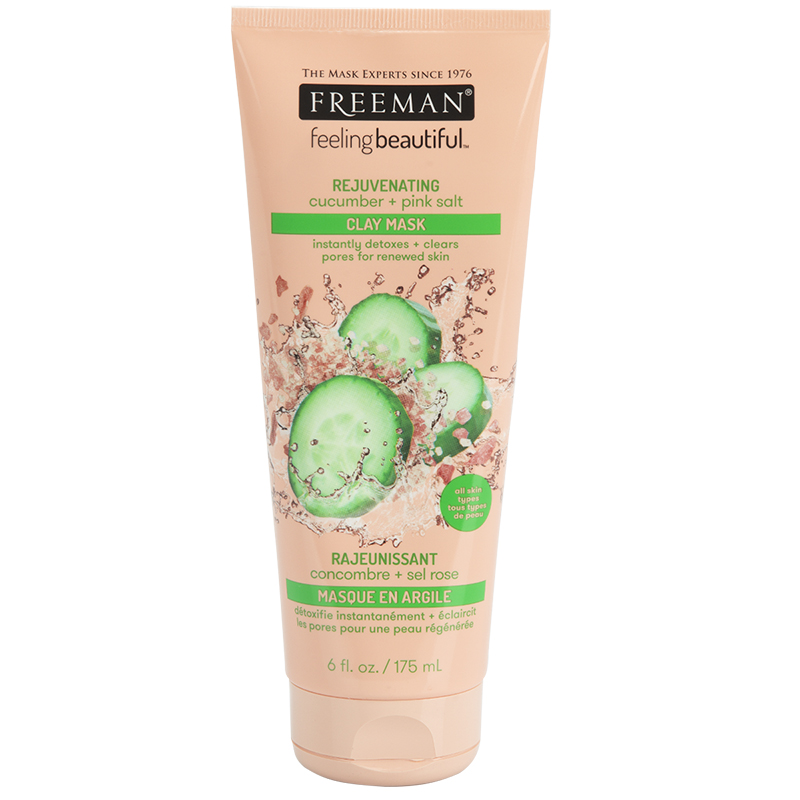 Freeman Clay Mask - Cucumber & Pink Salt - 175ml