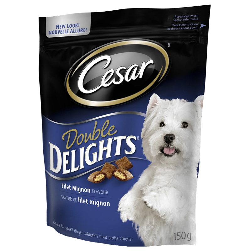 Cesar Double Delights Filet Mignon Flavour Treats - 150g