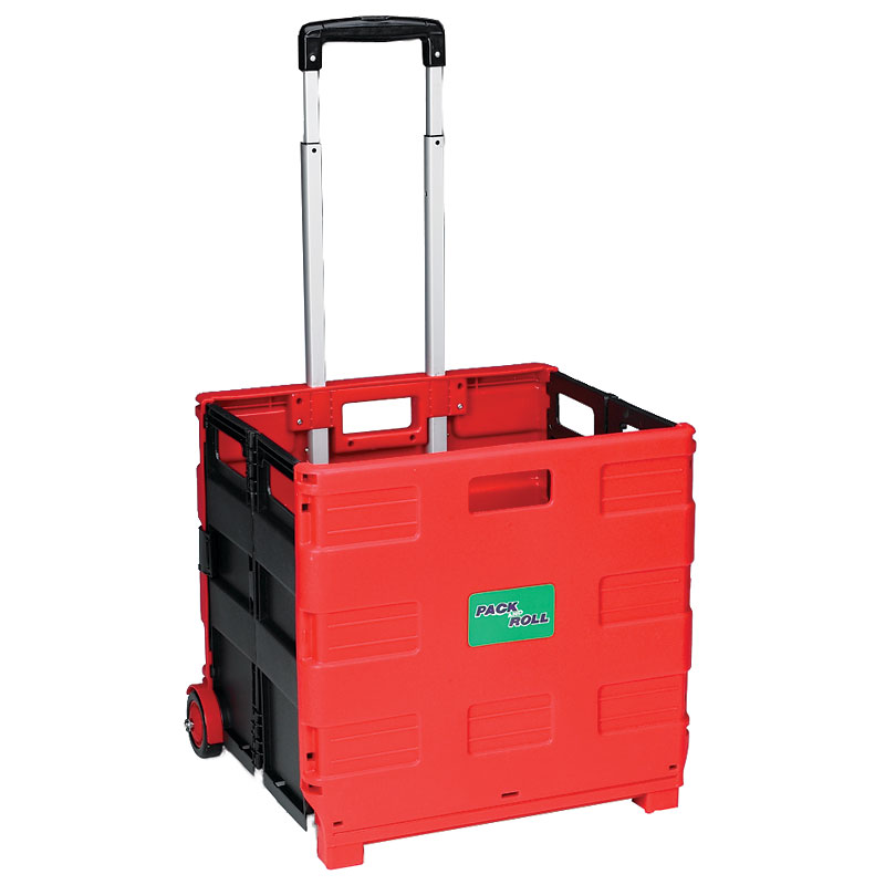 London Drugs Folding Trolley Box - Red/Black