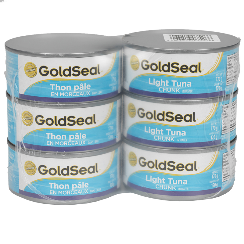 Gold Seal Light Tuna - Chunk in Water - 6 x 170g
