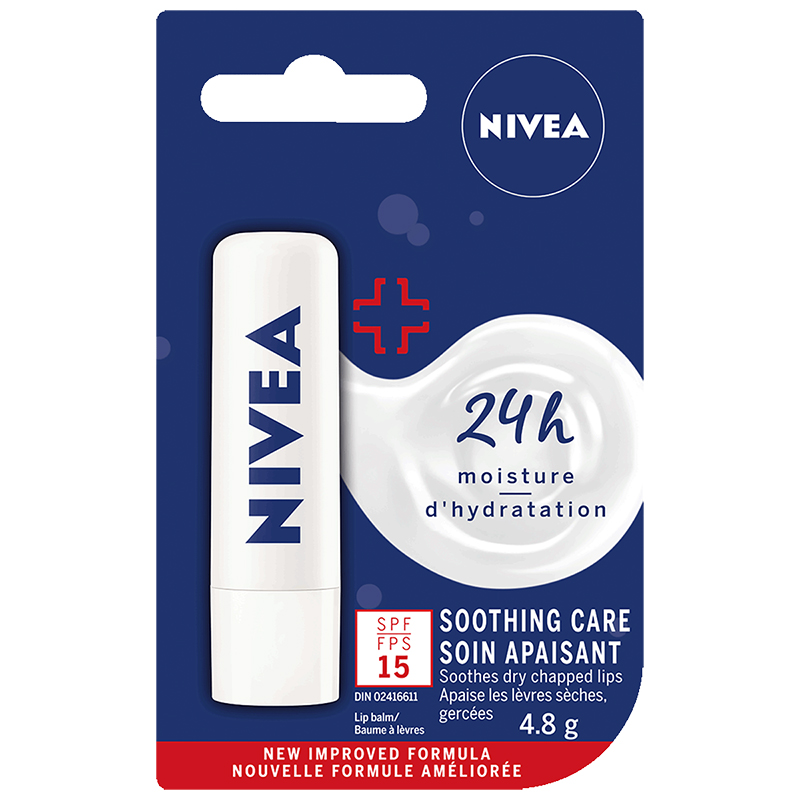 Nivea Soothing Care Lip Balm - SPF 15 - 4.8g