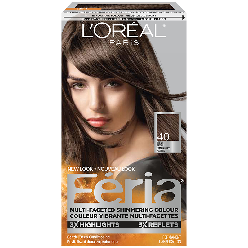 Loreal Feria Hair Colour 40 Deeply Brown London Drugs
