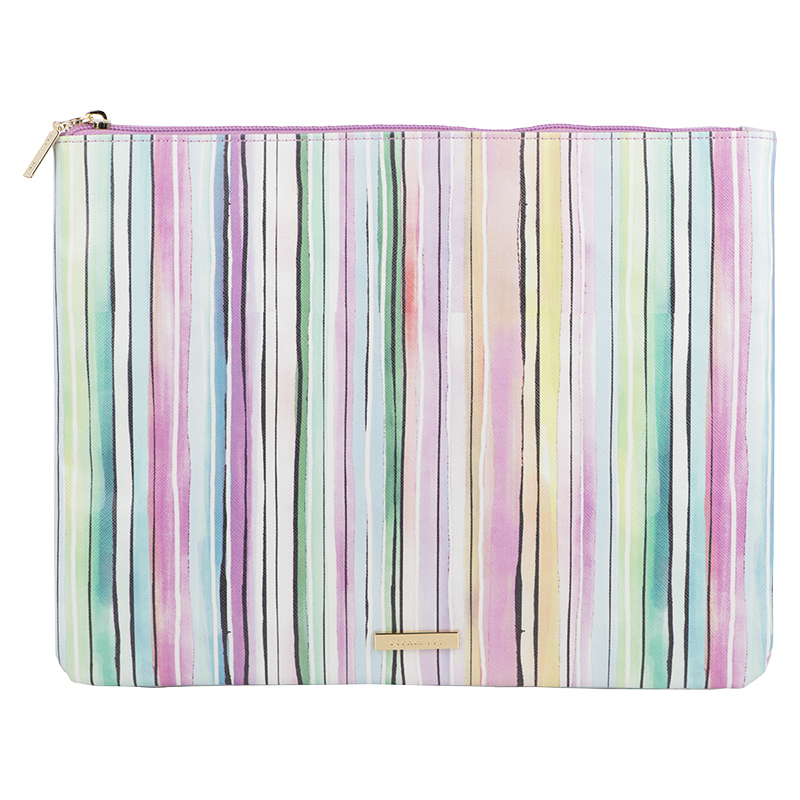 Sophia Joy Large Stripe Flat Clutch - A013882LDC