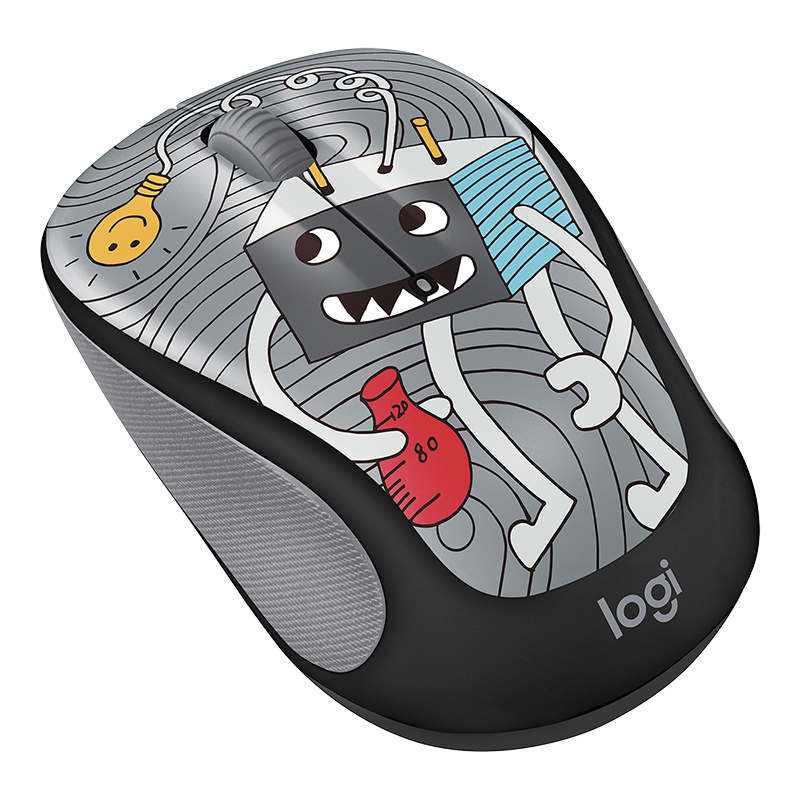 Logitech M325c Doodle Collection Wireless Mouse - Lightbulb - 910-005025
