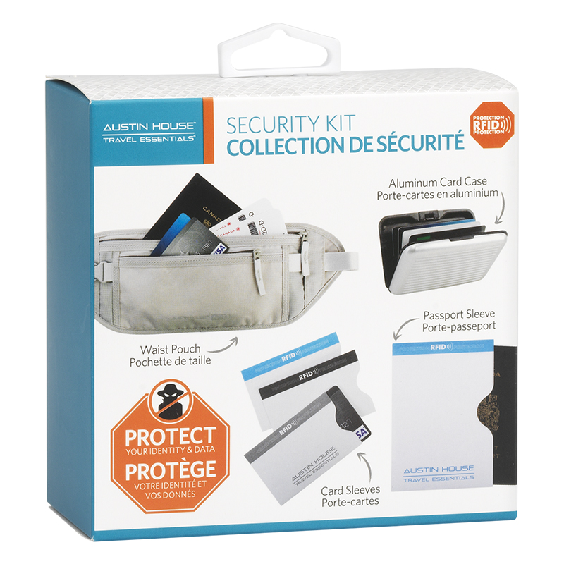 Austin House Travel Security Kit - 6 Pieces