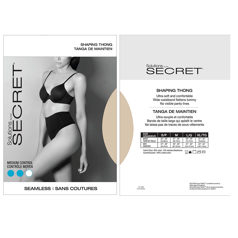 Secret Seamless Thong - Nude - Small