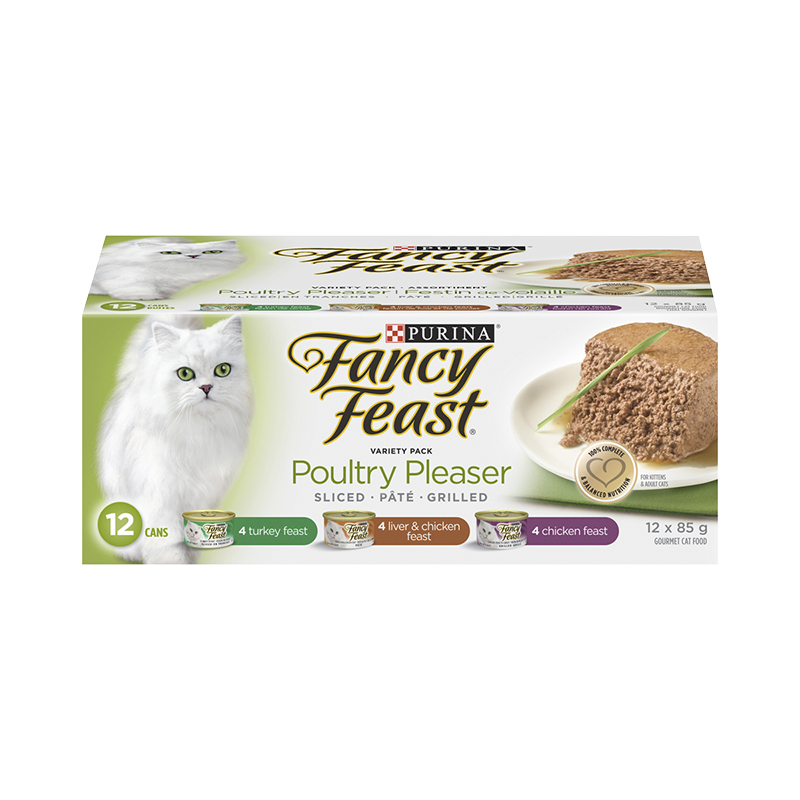 Purina Fancy Feast Poultry Pleaser Variety Pack - 12 x 85g