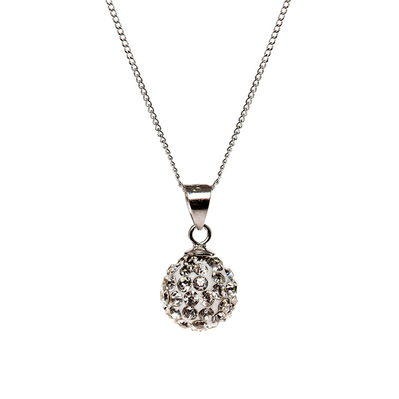 Charisma Sterling Silver Crystal Pendant Necklace