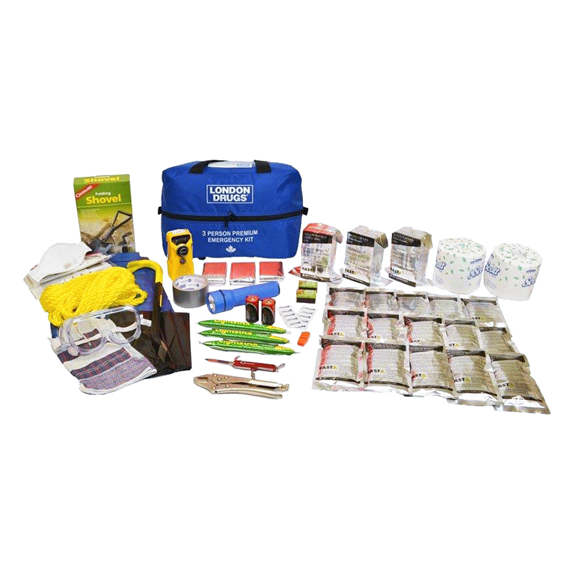 London Drugs Premium Home Emergency Kit - 3 person - EKIT1380.LD