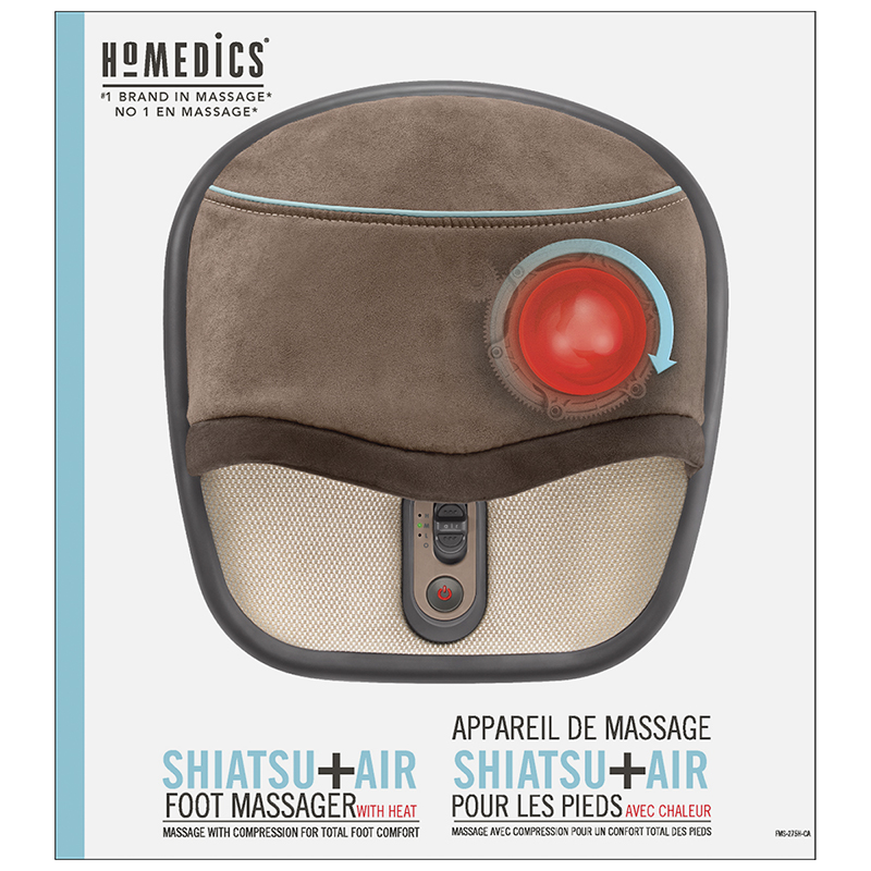 Homedics Shiatsu+Air Foot Massager with Heat - FMS-275HA-C