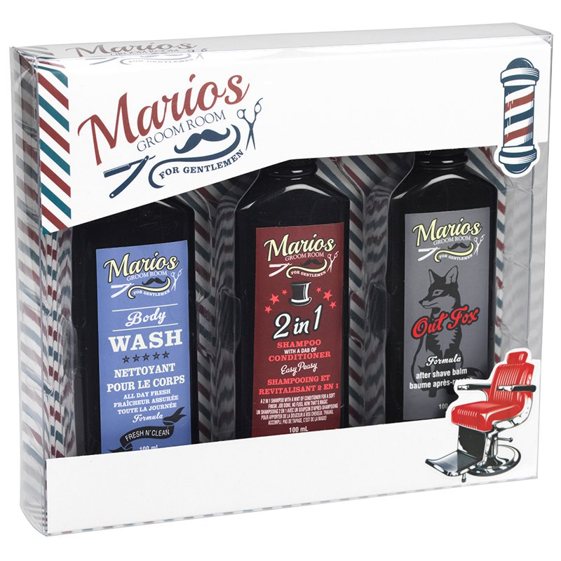 Mario's Groom Room Men's Bath Set - 3 piece