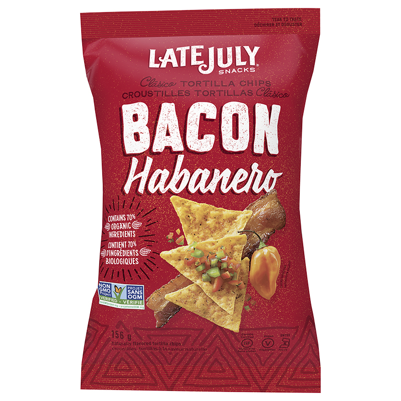 Late July Clasico Tortilla Chips - Bacon Habanero - 156g