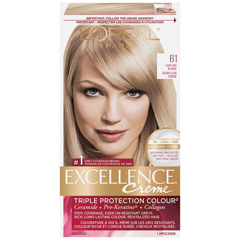 Lu0027Oreal Excellence Creme   B1 Light Ash Blonde
