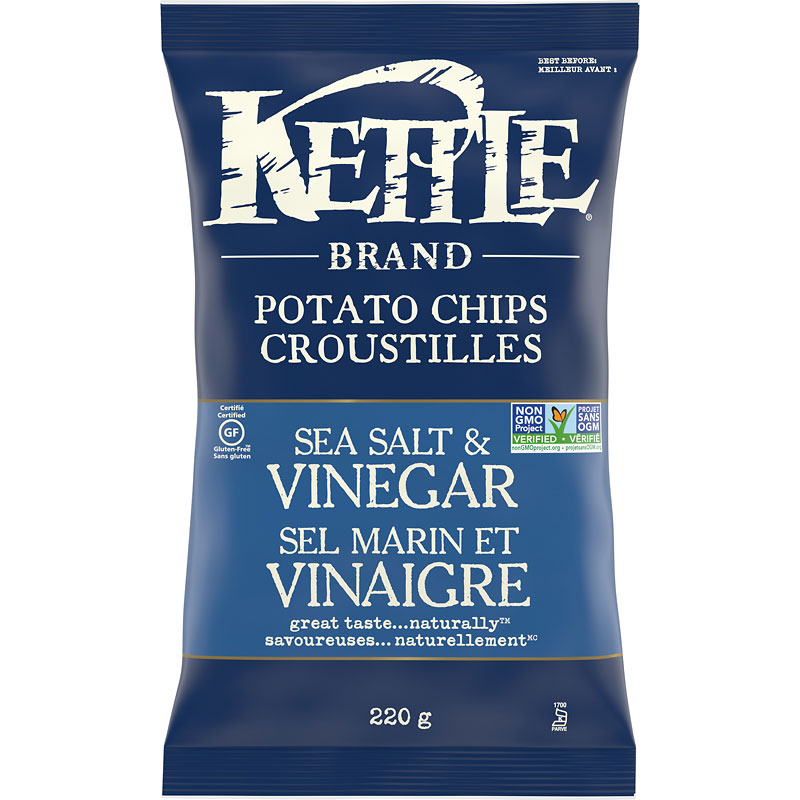 Kettle Brand Potato Chips - Sea Salt and Vinegar - 220g