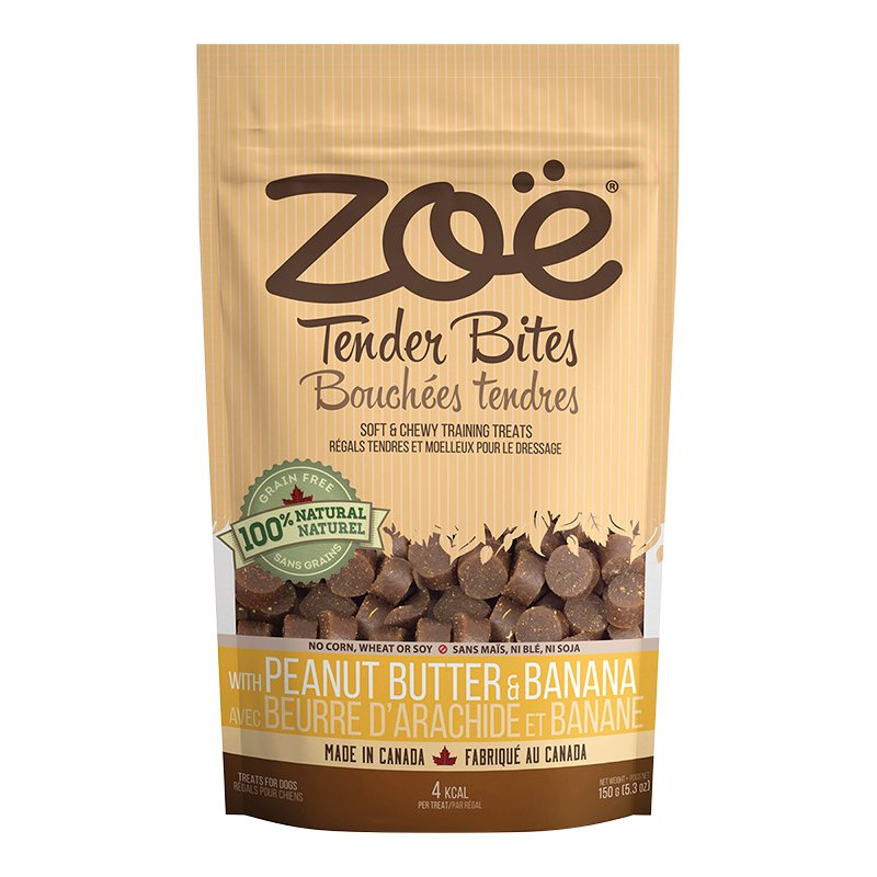 Zoe Tender Bites Dog Treats - Peanut Butter Banana - 150g