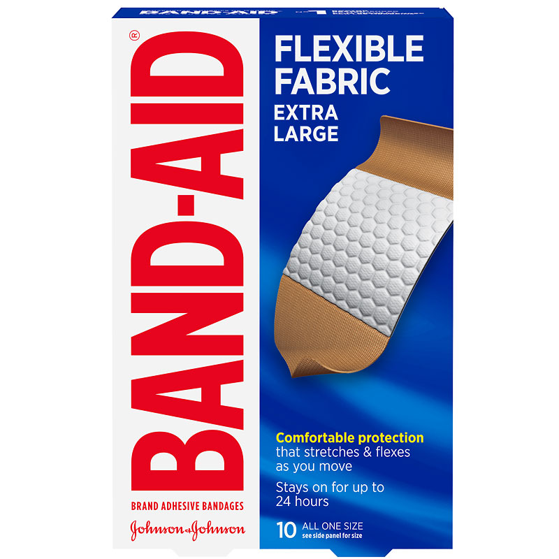 Johnson & Johnson Band-Aid Flexible Fabric - Extra Large - 10's