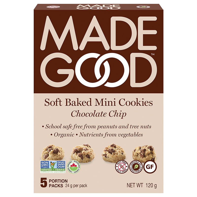 MadeGood Soft-Baked Mini Cookies - Chocolate Chip - 5x24g
