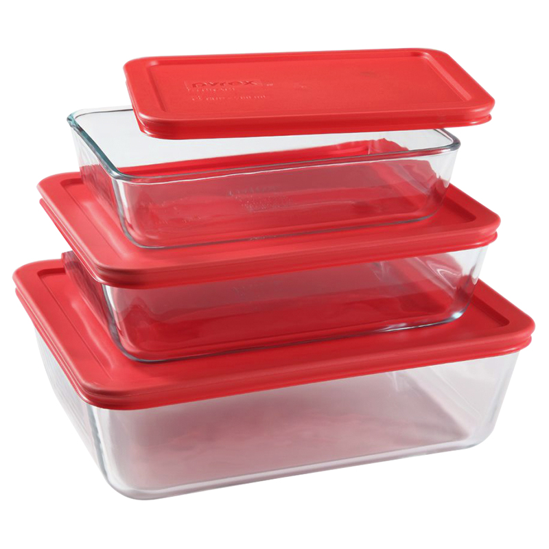 Pyrex Storage Rectangle - Value Pack - 6 piece