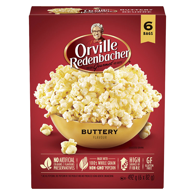 Orville Redenbacher's Buttery Microwave Popcorn - 6 pack