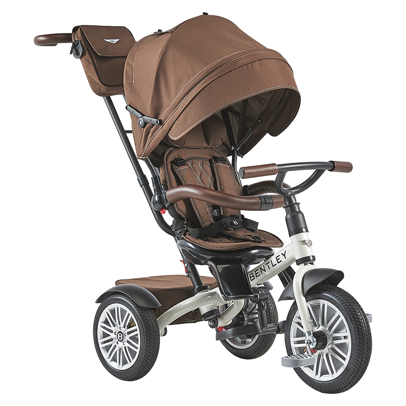 Bentley Tricycle Convertible Stroller - Bronze/White/Black - BN1W
