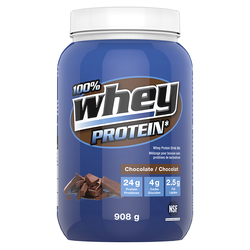 100% Whey Protein Powder - Chocolate - 908g