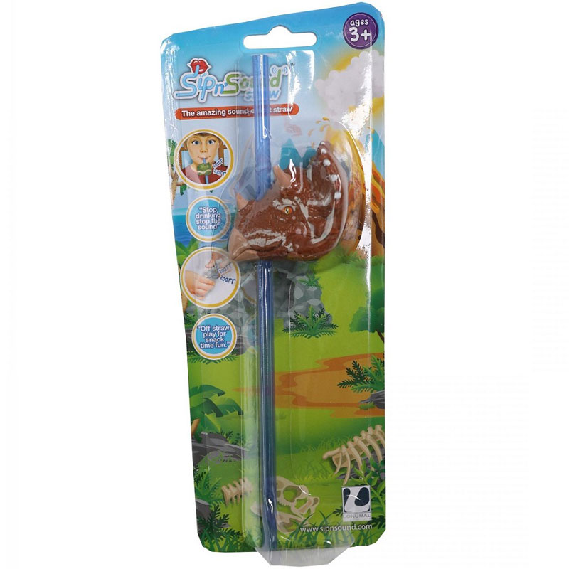 Sip N Sound Straw - Dinosaurs - Assorted