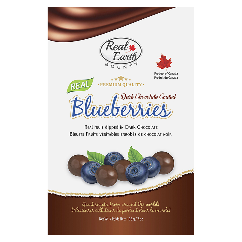 Real Earth Bounty Dark Chocolate Coated Blueberries - 42.5g