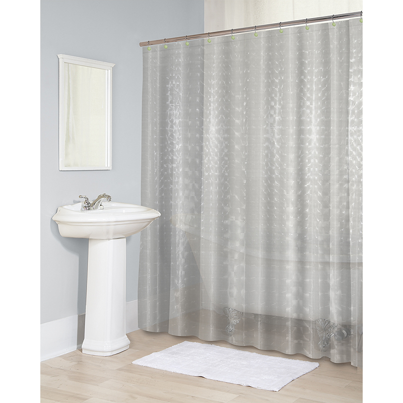 Splash Vinyl Shower Curtain - Clear