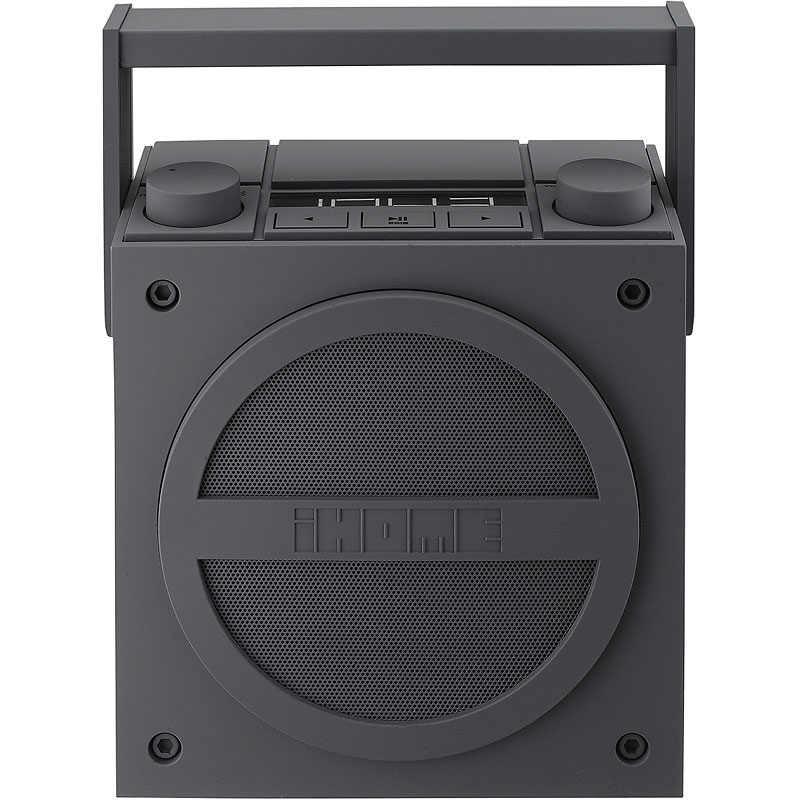 iHome Bluetooth Wireless Rechargeable Boombix with FM Radio - iBT4