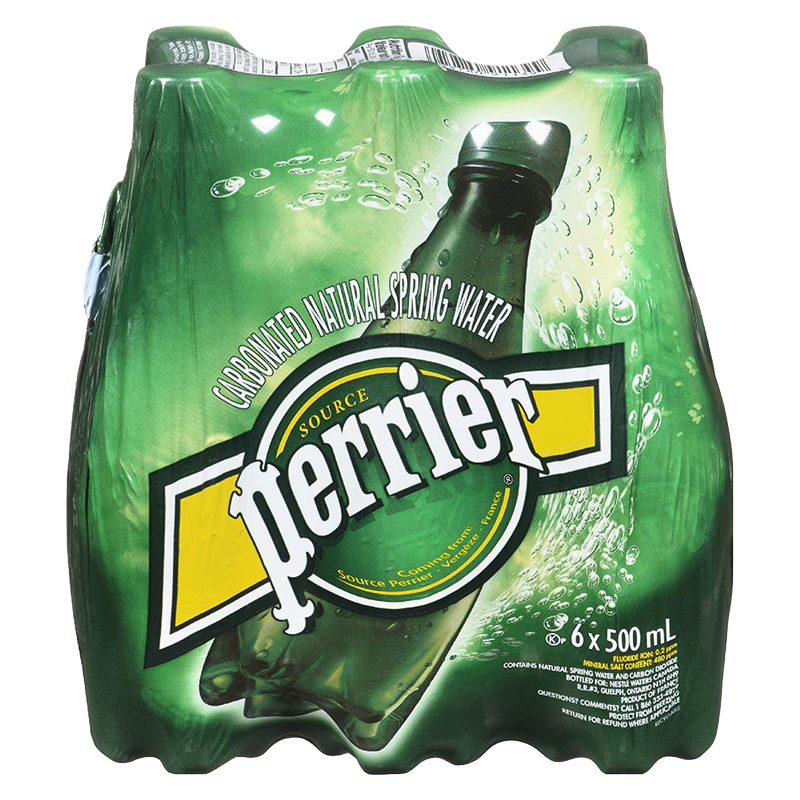 Perrier Mineral Water - 6 x 500ml