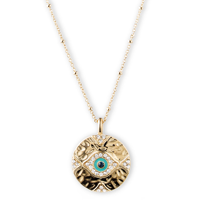 Lonna & Lilly Evil Eye Necklace - Gold Tone