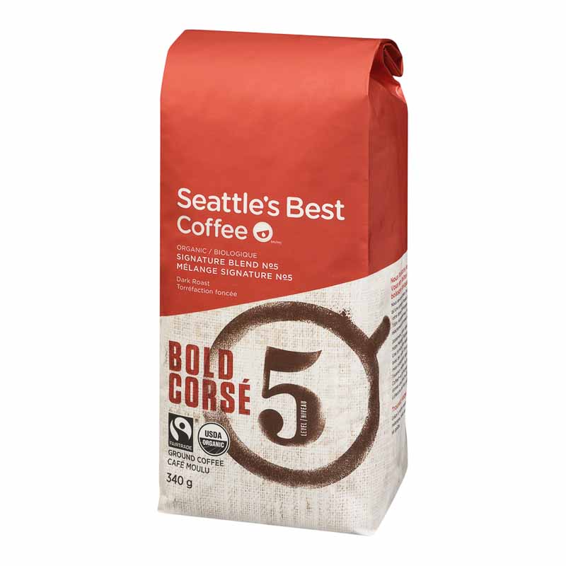 Seattle's Best Ground Coffee - Organic Bold -  340g