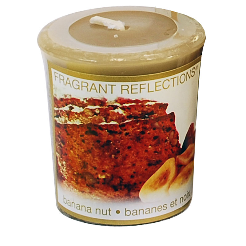 Fragrant Reflection Votive Candle - Banana Nut