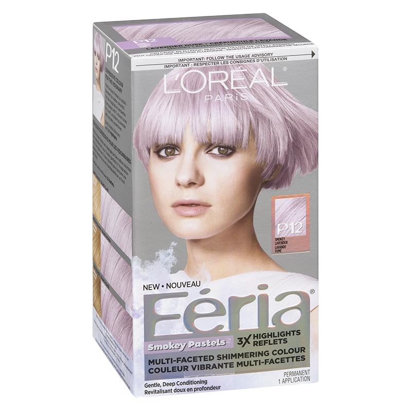 Loreal Feria Smokey Pastels Permanent Hair Colour P12 Lavender