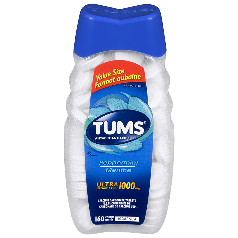 TUMS Ultra Strength 1000 Peppermint Antacids - 160's
