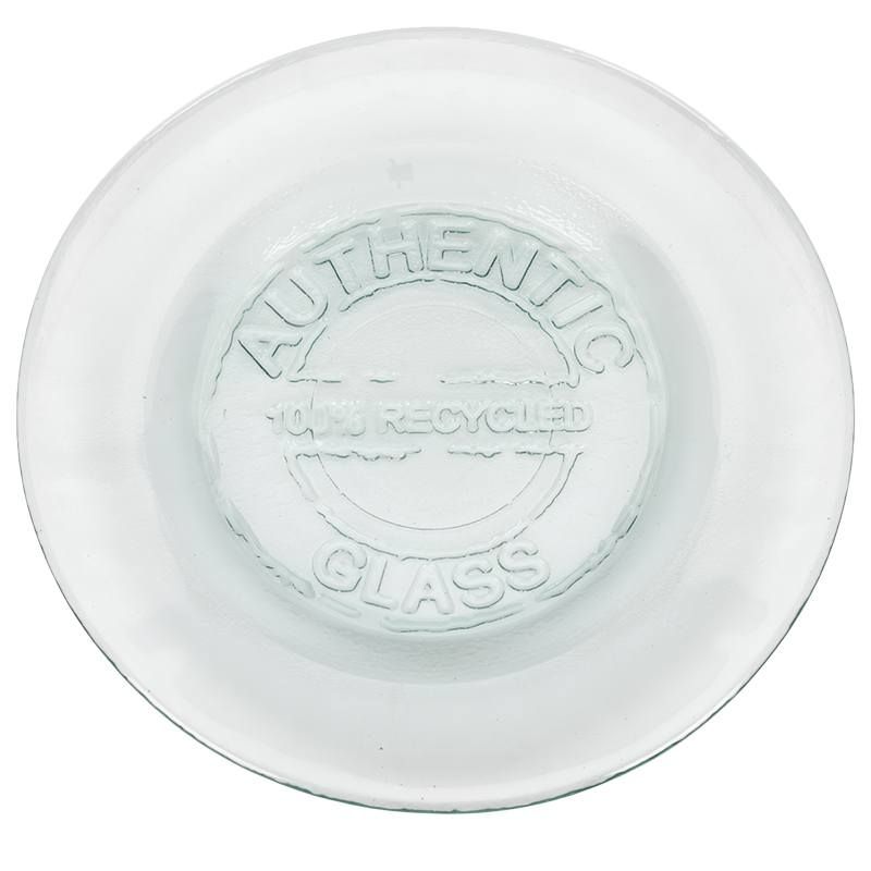 London Drugs Green Glass Authentic Plate - 20cm