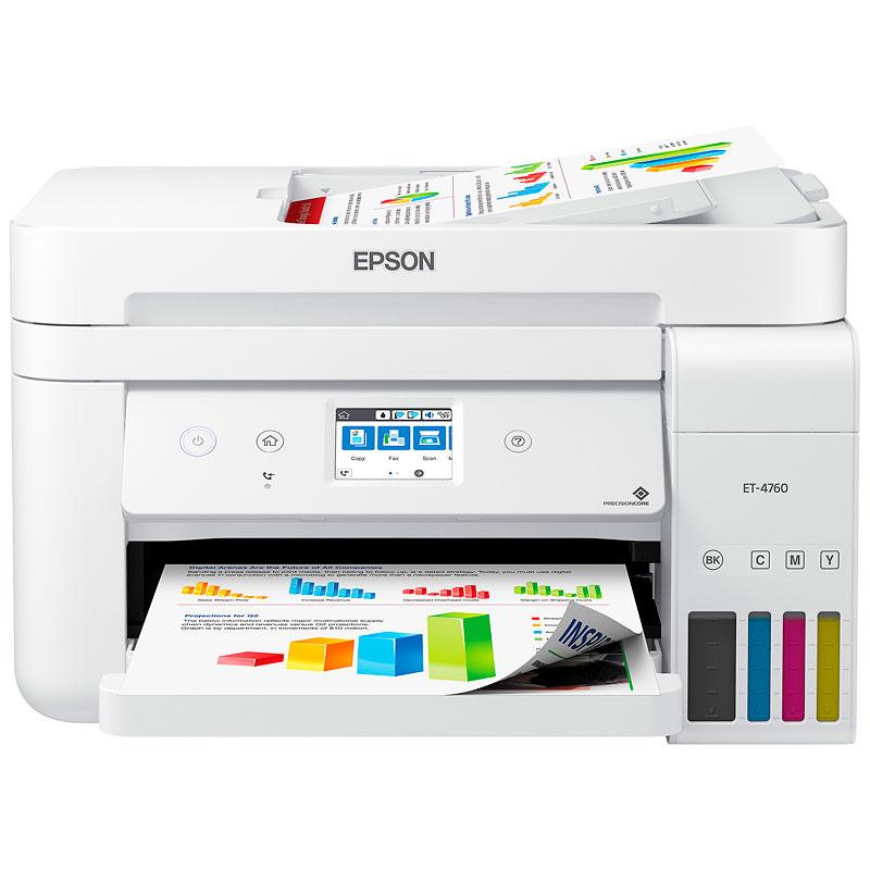 Epson WorkForce ET-4760 EcoTank All-in-One Supertank Printer - C11CG19204