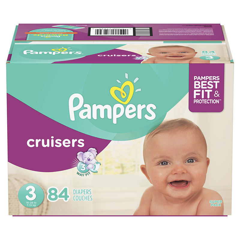 Pampers Cruisers Diapers - Size 3 - 84's